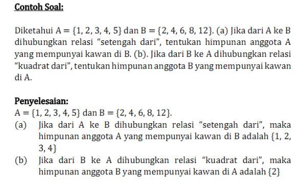 Contoh Soal Relasi