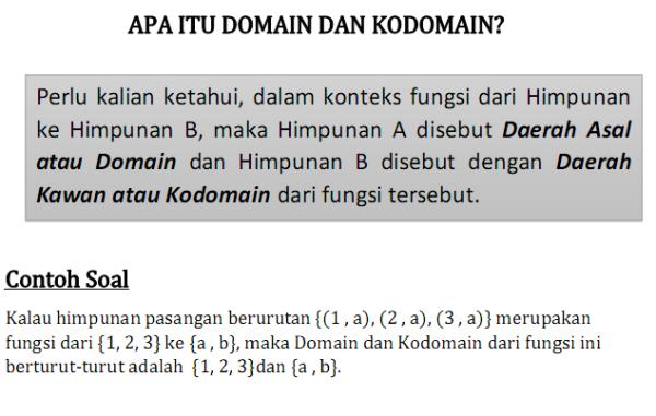 Domain dan kodomain